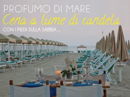 Organizziamo per te indimenticabili cene a lume di candela con i piedi sulla sabbia…